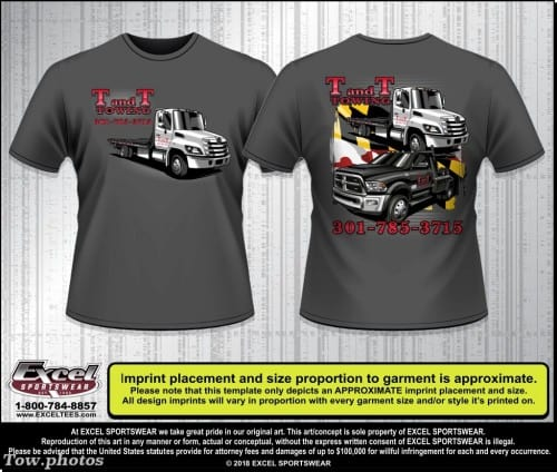 T and T Towing 641811232 TEE
